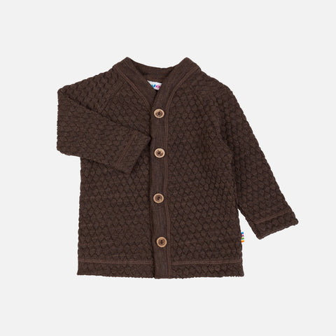 Merino Wool Cardigan - Bark - 1m-6y