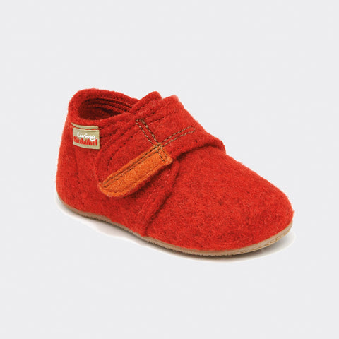 Wool slipper - Red - size 19-29 (UK 3-11)