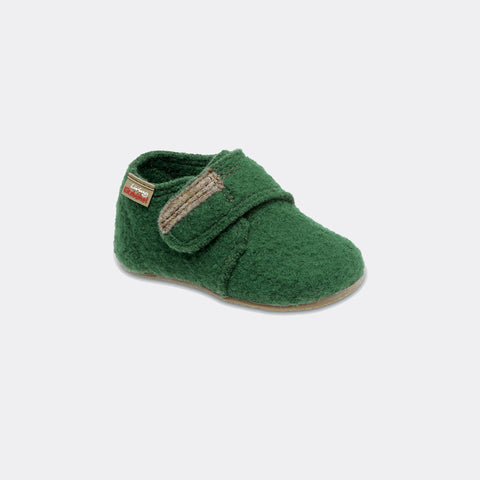 Wool Slipper - Green - size 27 only