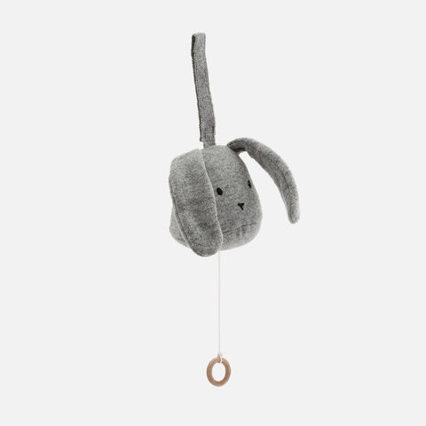 Wool Rabbit Music Box - Grey