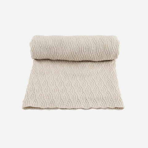 Organic Cotton Baby Blanket/Swaddle - Pointelle