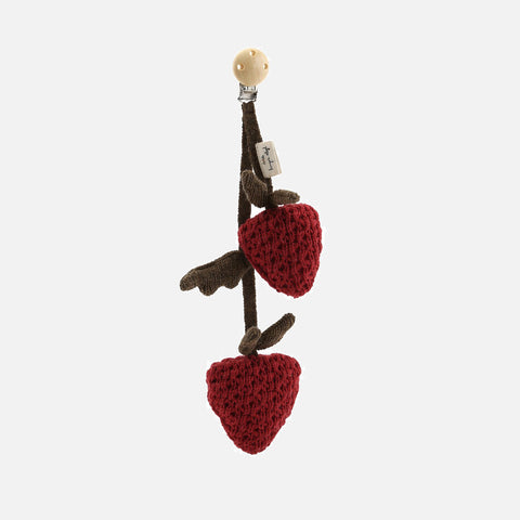 Wool Raspberry Mini Mobile - Red