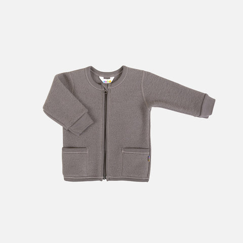 Merino Fleece Jacket - Iron Brown - 1-4y