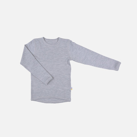 Merino Long Sleeve Top - Grey -  1-12y
