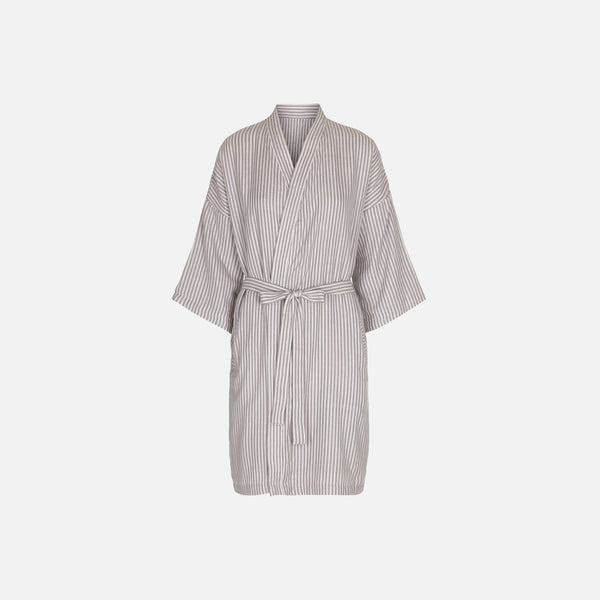 Organic Cotton Muslin Robe - Striped