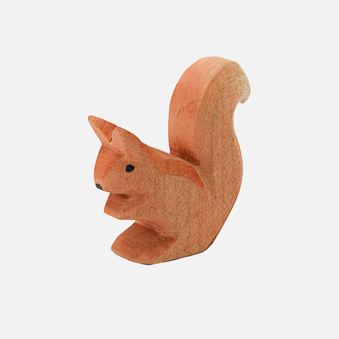 Handcrafted Small Red Sitting Squirrel