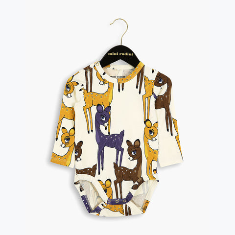 Organic Cotton Roe Deer LS Body - Brown - 0m-2y