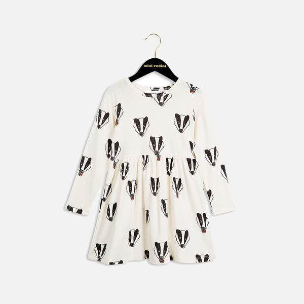 Organic Badger LS Dress - Offwhite - 6m-5y