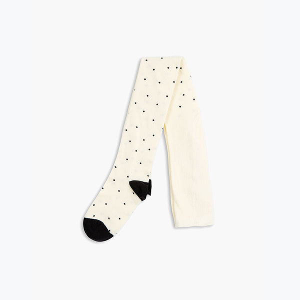 Organic Dot Tights - Black - 6m-8y