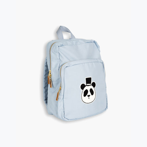 Organic Cotton Panda Backpack - LT Blue