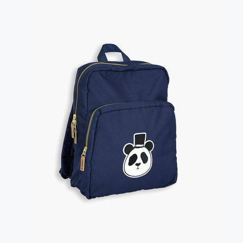 Organic Cotton Panda Backpack - DK Blue