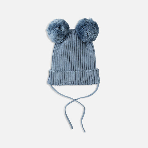 Organic Ear Hat - LT Blue - 4m-11y