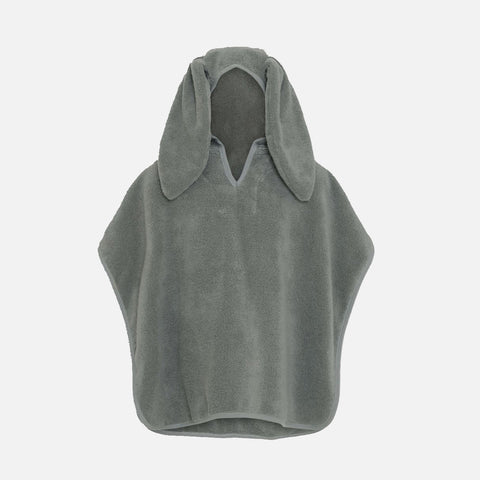 Organic Cotton Terry Kid's Poncho - Storm Grey