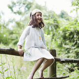 Handmade Linen Karla Dress - Ecru -  2-6y