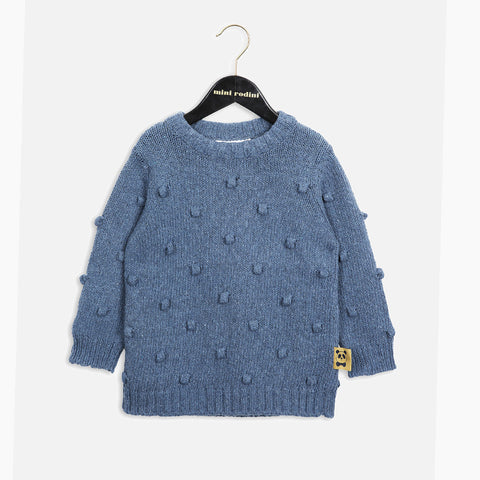 Recycled Denim Knitted Bubble Sweater - 1-9y