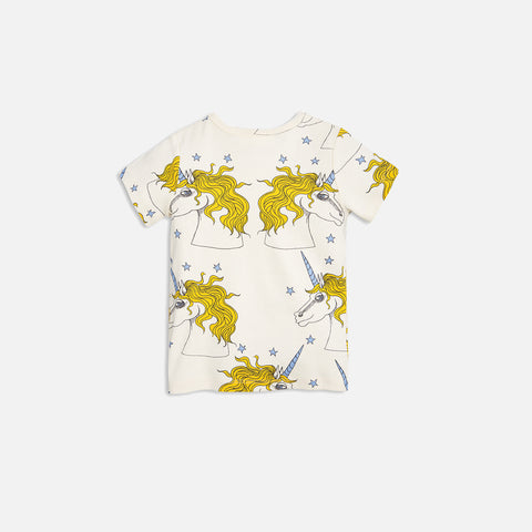 Orgainc Unicorn/Star SS Tee - Off White - 6m-7y