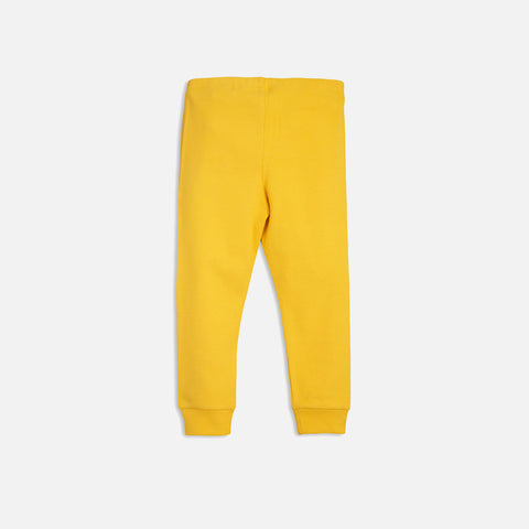 Organic Solid Rib Leggings - Yellow - 0m-7y