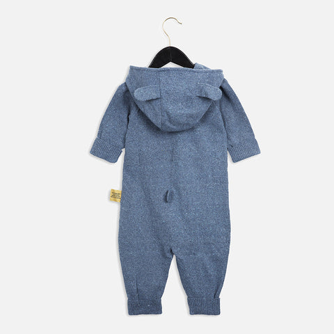 Recycled Denim Knitted Overall - 0m-2y
