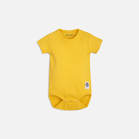 Organic Solid Rib SS Body - Yellow - 0m-2y