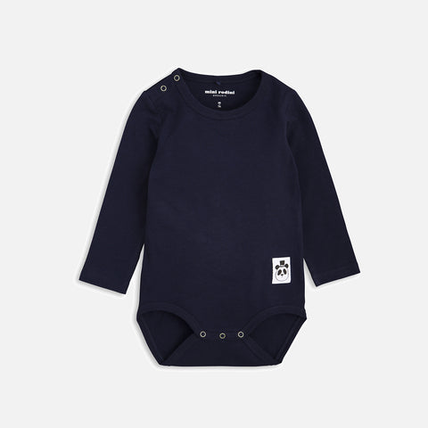 Organic Basic LS Body - Navy - 0m-2y