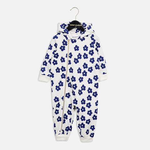 Organic Cotton Blossom Overall - Denim - 0m-2y