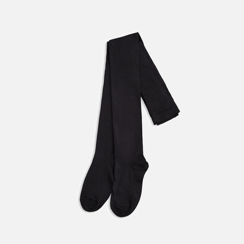 Organic Cotton Tights - Black - 6m-8y