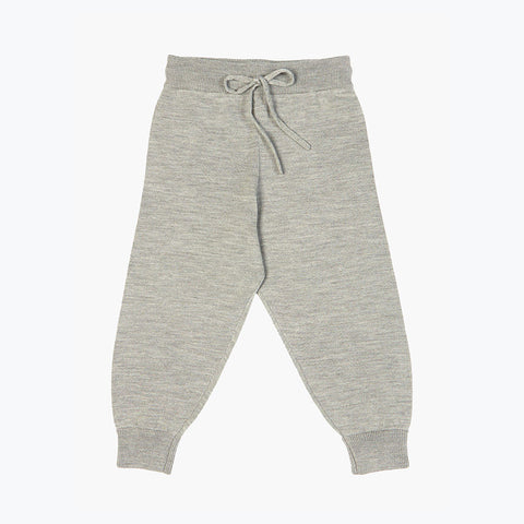 Fine Merino Relaxed Pants - Light Grey - 2-8y