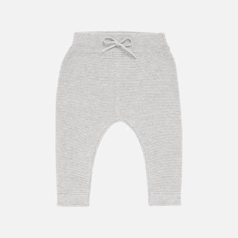 Organic Cotton Proust Baby Knitted Pants - Grey - 0-18m
