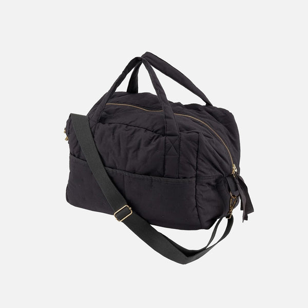 Quilted Cotton Changing Bag - Navy