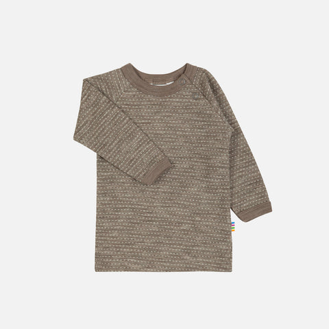 Merino Wool LS Top - Walnut - 1-6y