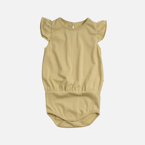 Organic Cotton Pippi Romper - Lemonade