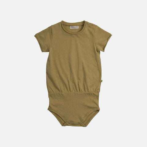 Organic Cotton Lyng Romper - Lime