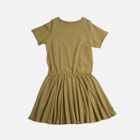 Organic Cotton Lilja Dress- Lime