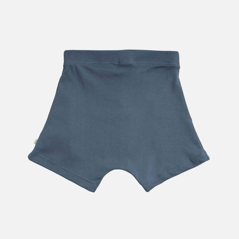 Organic Cotton Seamless Norse Shorts - Steel Blue