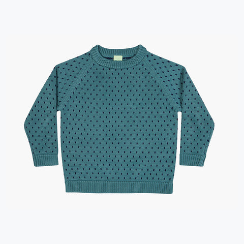 Light Merino Sweater Snow - Jade - 3y-10y