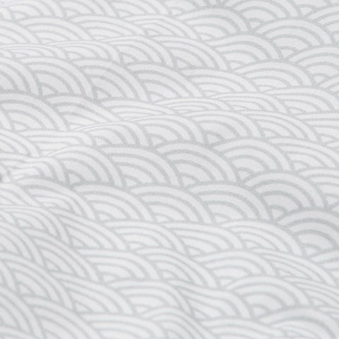 Organic Duvet & Pillow Cover - Grey Wave - Junior Cot