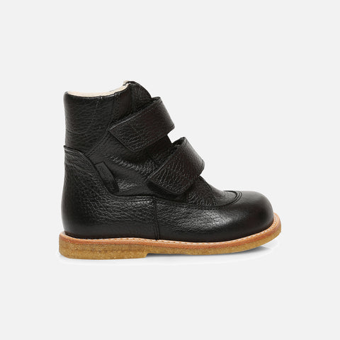 Wool Lined Waterproof Leather Boots - Black - 26 (UK 8.5) - 34 (UK 2)