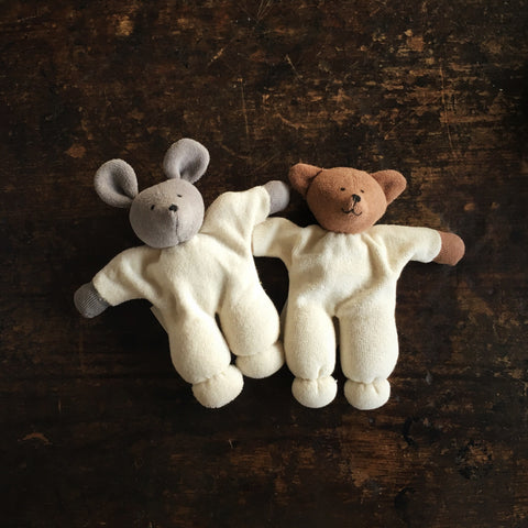 Organic Cotton/Wool Soft Bear or Mouse