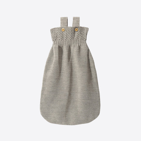Knitted Organic Merino Wool Sleeping Bag - Grey