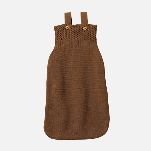 Knitted Organic Merino Wool Sleeping Bag - Hazelnut