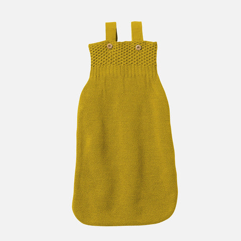 Knitted Organic Merino Wool Sleeping Bag - Curry