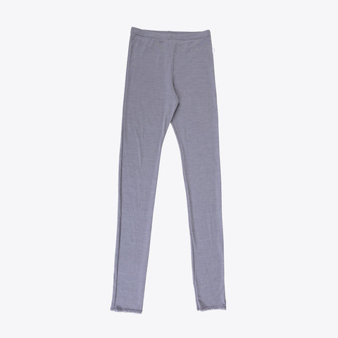 Women's Merino Wool/Silk Leggings Grey Or Natural