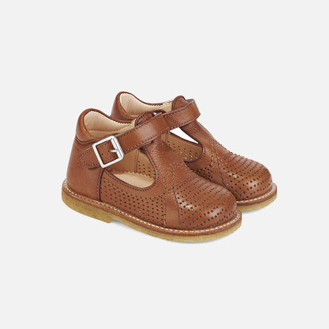 T-Bar Toddler Shoes - Cognac - 20 (UK 4) - 24 (UK 7)