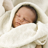 Organic Merino Wool Baby Blanket - Natural