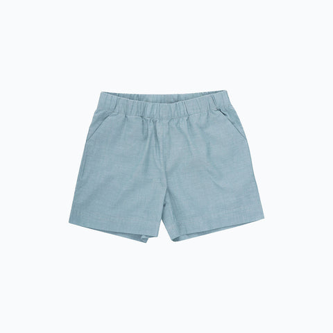 Organic cotton Shorts - Stone Chambray - 5-6y