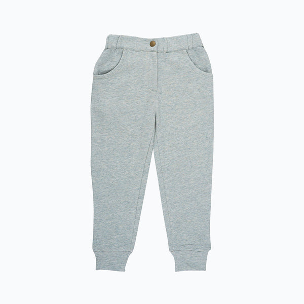 Organic Sweat Pants - Stone - 3-6y