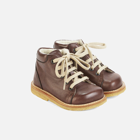 Wool Lined Toddler Boots - Brown