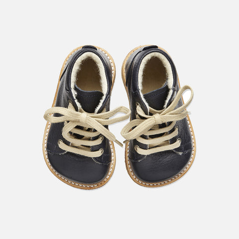 Wool Lined Toddler Boots - Navy - 20 (UK 4) - 24 (UK 7)