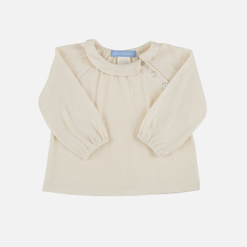 Organic Cotton Baby Collar Blouse - Off-white - 3m-2y