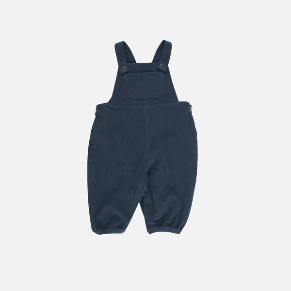 Organic Corduroy Dungarees - Orion Blue - 2y